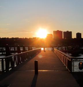 Harlem at sunset
